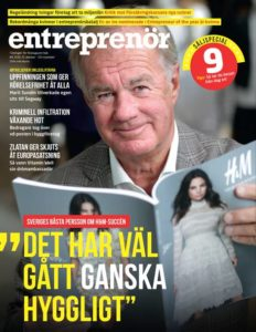 "Cover of entreprenör magazine with Stefan Persson on the cover and the words ""det har väl gått ganska hyggligt"". In English: ""it has gone pretty well""."