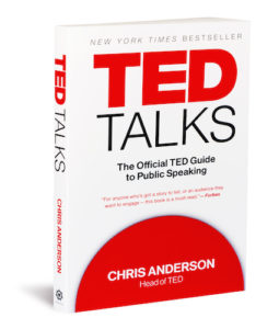 The front of the book TED Talks: the official TED Guide to Public Speaking.